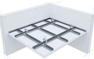 Как се прави окачен таван от гипсокартон .Необходими материали