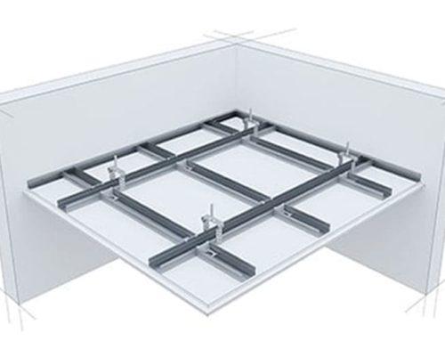 Окачен таван от гипсокартон с конструкция на две нива – Първа Част