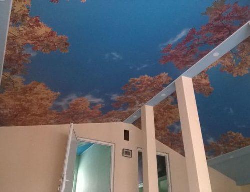 Какво е Опънат таван?