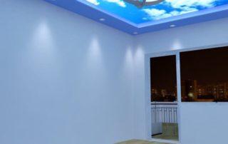 Опънати тавани и как те всаимодействат с изкуствено осветление