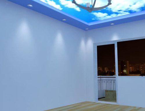 Опънати тавани – Взаимодействие с изкуствено осветление