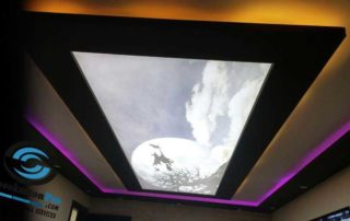 Окачен таван комбинация между опънати тавани и гипсокартон