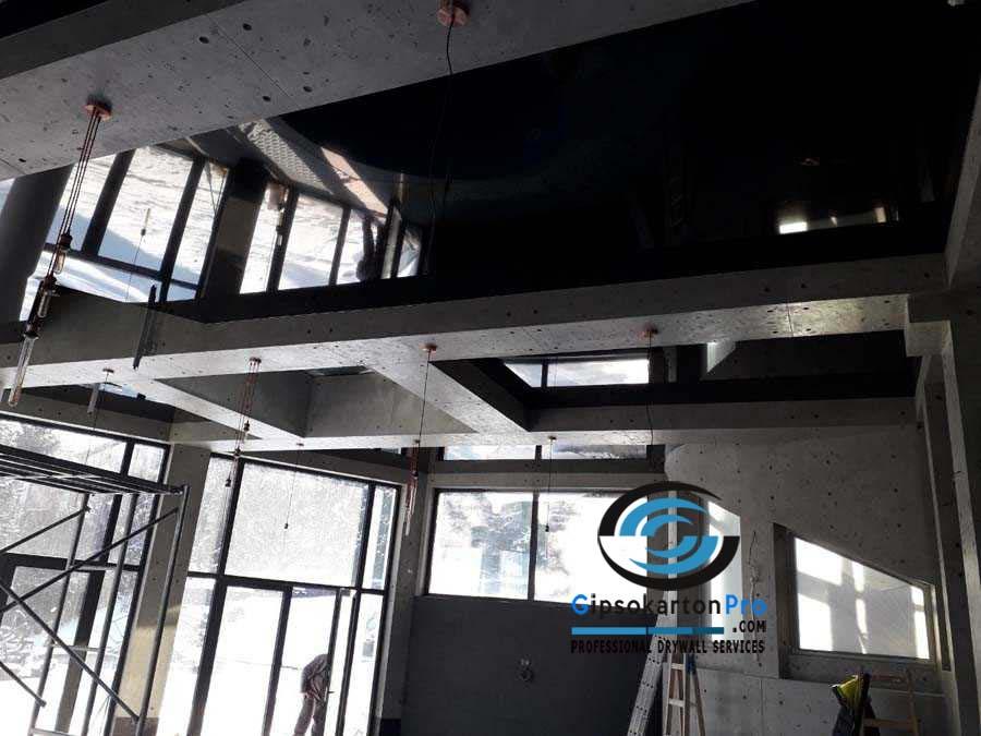 Монтаж на опънати тавани в басейн 1